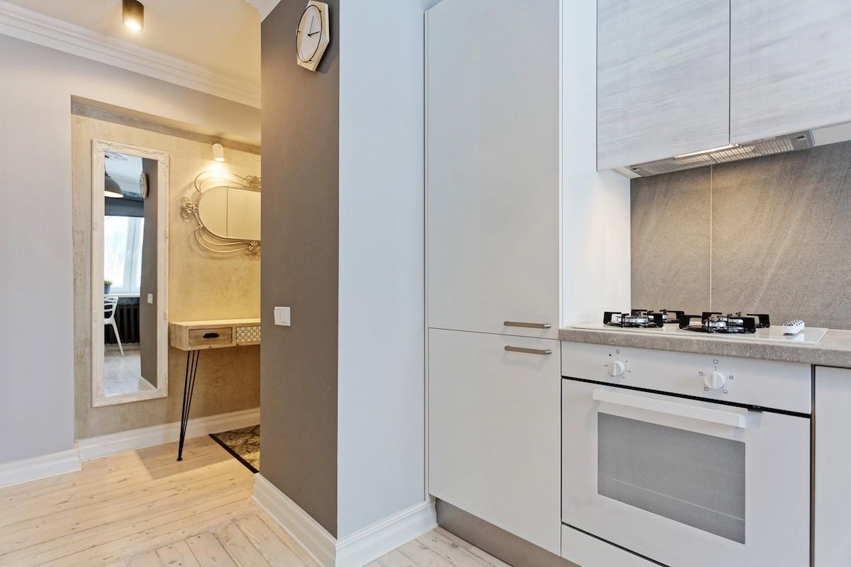 Kompaktas virtuves dizains